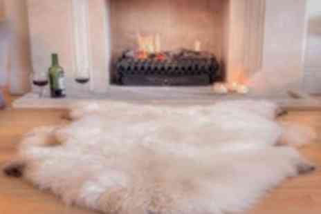 Sheepys - Large Natural Irish Sheepskin Rug - Save 51%