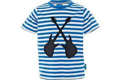 Argos - Emma Bunton Boys' Blue Striped Guitar T-Shirt - Save 50%