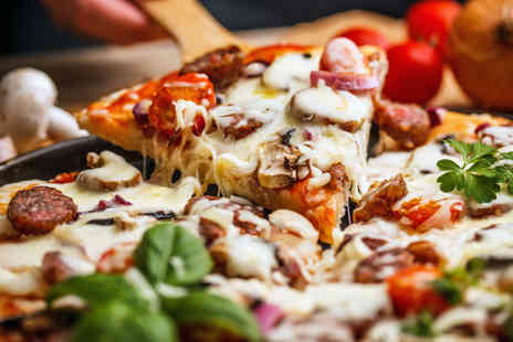 Mia Roma -  Italian street food meal for 2 people including 2 pizza slices and soft drink - Save 47%