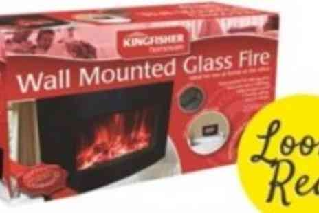 Kingfisher Homeware - Stylish Remote Controlled Wall Mounted Electric Fire - Save 50%