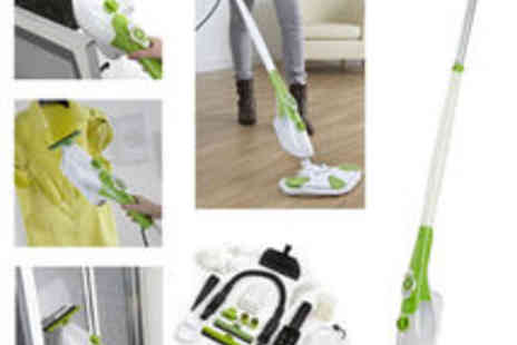 trueshopping - 1300W GrimeBusterX6 6 in 1 Steam Mop Floor Carpet Cleaner Hand Held Steamer - Save 69%