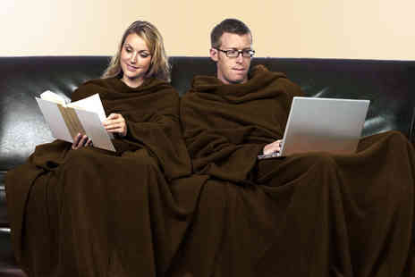 Find Me A Gift - Double slanket in chocolate brown - Save 45%