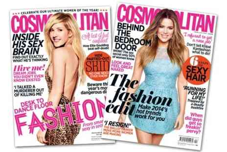 Hearst Magazines - Cosmopolitan Magazine 12 Month Subscription  - Save 72%