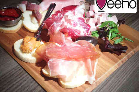 Veeno Italian Wine Cafe - Starter to Share Two Mains and a Bottle of Wine for Two People - Save 53%