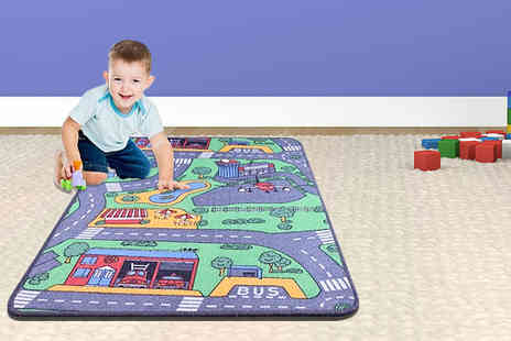 The Offer Hut - Interactive kids road map rug - Save 40%