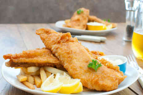 Two Brothers Fish Restaurant - Eat In Fish and Chips for Two with Glass of Wine - Save 58%