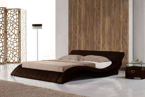 Furniture Detail - Double Bed in White or Brown or King Sized Bed - Save 75%