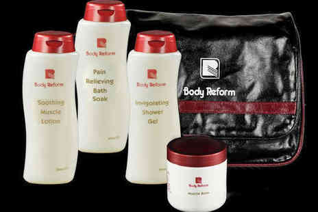 Body Reform - Sports Pack Including Shower Gel, Bath Soak, Muscle Lotion, and Muscle Balm - Save 57%