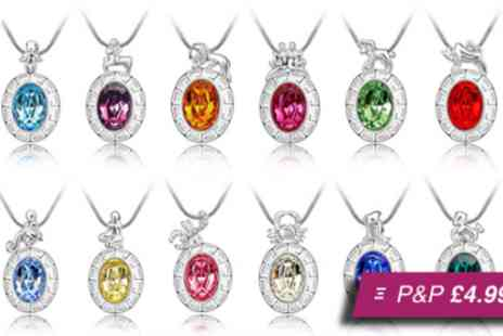 AMA Gifts - Horoscope necklace made with Swarovski elements - Save 88%