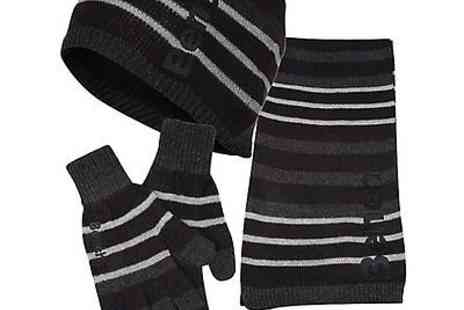 benchclothing - Bench Womens Five Stars Hat Glove and Scarf Set Black - Save 57%