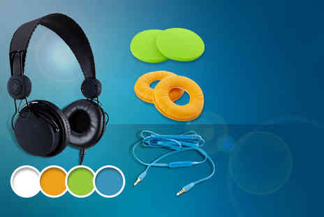 Pocket Media - Pair of Covert 218 customisable headphones including one accessory - Save 70%