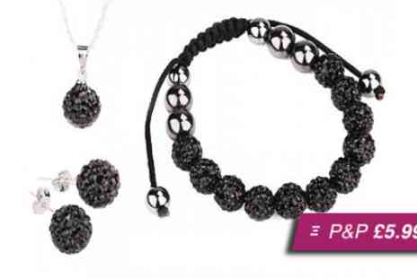 Amelia Zahara -  Swarovski elements Shamballa trio - Save 96%