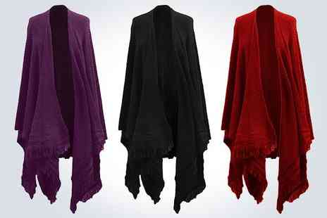 DR W - Wrap up with a ladies black cape wrap - Save 50%
