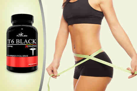 The Fitness Factory - 90 Pure Labs T6 Black Revolution  Fatburner supplement capsules - Save 47%