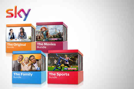Sky - 12 month Sky plus HD Original Family Movies or Sports package - Save 50%