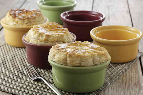 home shopping - Set of six Classic, Individual Pot Pie Casserole Dishes - Save 50%