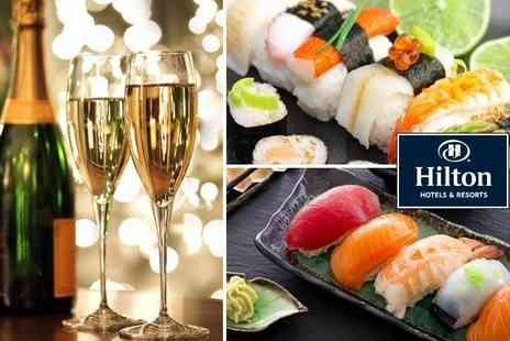 The Hilton Tower Bridge - Sushi platter for two with wine   - Save 47%