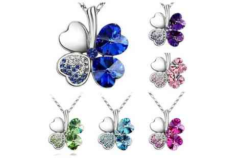 Spoil Someone - Spoil Someone Crystal Clover Pendant - Save 53%