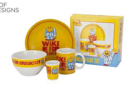 Irof Designs - Honey Monster Four Piece Breakfast Set - Save 61%