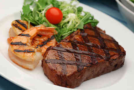 Sade Restaurant - Surf and Turf Meal for Two People with a Bottle of Wine - Save 52%