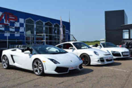 VIP Supercar Experience - A Total of 9 or 12 Laps in Three Supercars - Save 72%