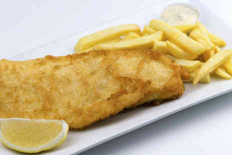 The Telford Arms - Famous Fish and Chips for two, including Tea or Coffee - Save 59%