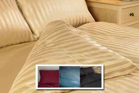 Better Bargains - Double satin duvet cover set   - Save 50%