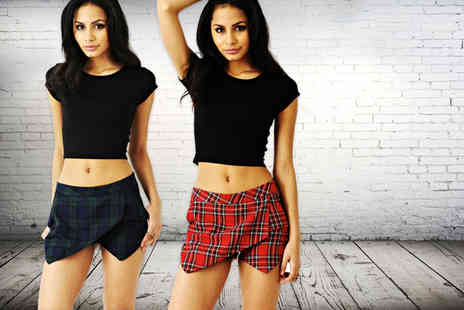 She Likes - Red or green tartan skort - Save 50%