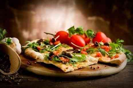 Volti Noti - Pizza or Pasta With Sides and Wine For Two - Save 49%