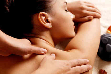 De stress Health and Beauty - Back Neck and Shoulder Hot Stone Massage - Save 62%