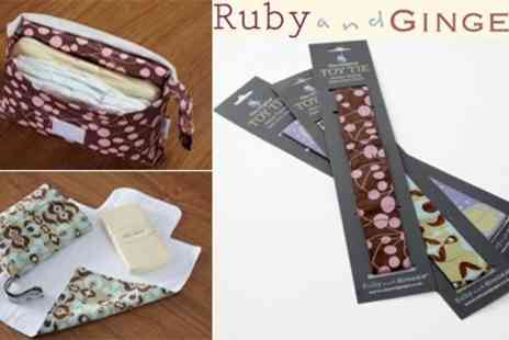 Ruby and Ginger - Nappy Purse, Changing Mat & Toy Tie - Save 50%