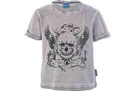 Argos - Emma Bunton Boys Grey Oil Wash Skull T Shirt - Save 56%