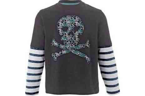 Argos - Emma Bunton Boys Black Skull Slub Top - Save 40%