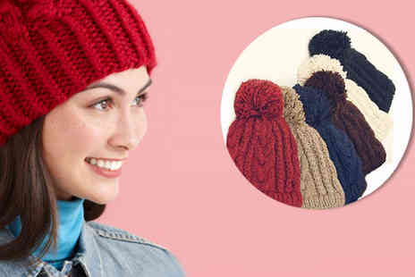 island games (millscott limited) - Knitted bobble hat - Save 83%