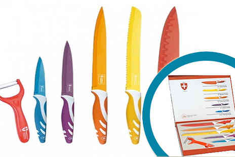 Seleccion De Producto - 6 or 8 piece Swiss line ceramic knife set - Save 88%