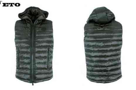 Raw Indigo - Mens Quilted Gilet by ETO Jeans - Save 53%