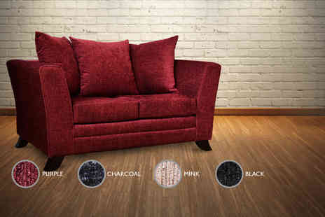 Furniture Deals - Warwick two seater fabric sofa - Save 67%