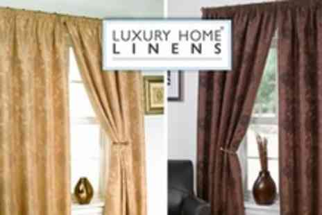 Luxury Home Linens - Carrie Fully Lined Curtains in Choice of Colours and Sizes - Save 70%