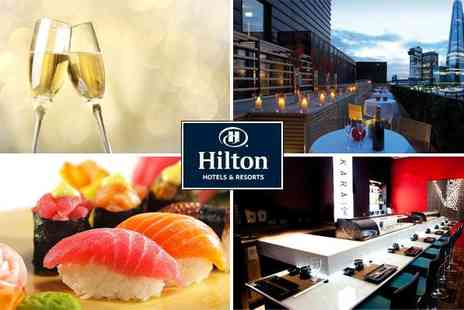 The Hilton Tower Bridge - Sushi platter for two with Prosecco - Save 51%