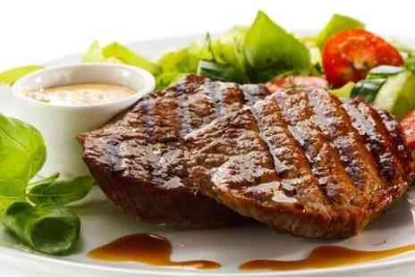 La Cantina - Sirloin Steak Meal Plus Wine For Two - Save 58%