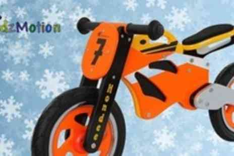 Proqom - Wooden Motorcycle Balance Bike - Save 67%
