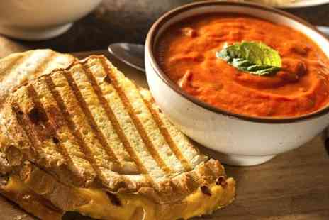 Andronicas world of coffee - Panini Soup and Hot Drink - Save 57%