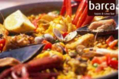 Barca Tapas & Cava Bar - Authentic Spanish Paella to Share for Two People with Jug of Sangria or Bottle of Wine - Save 56%