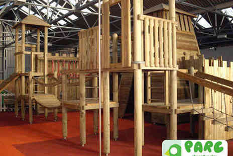 Parc Play - Six Play Passes to All Weather Play Centre for twoYear Olds - Save 56%
