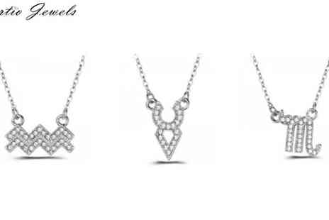 Sarabandi and co limited - Zodiac Necklace Made with Swarovski Elements - Save 83%