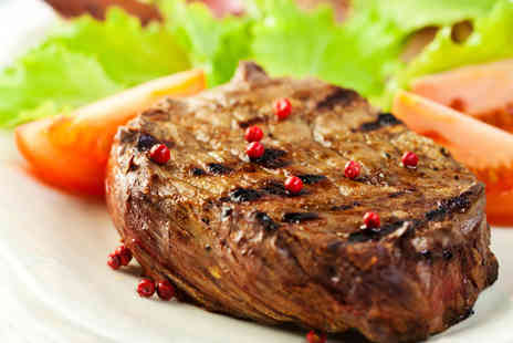 Wine & Bread - Sirloin Steak Meal with a Carafe of Wine for Two People - Save 53%