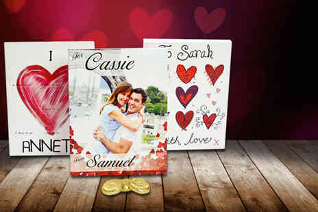 Snapajack - Personalised chocolate Valentines countdown calendar - Save 40%