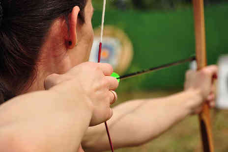 Greenfield Entertainment - Robin Hood Archery Experience with Bacon Roll and Hot Drinks - Save 60%