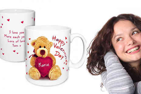 Something Great Limited - Personalised Valentine's teddy heart mug - Save 50%