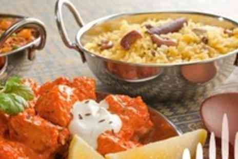 Milan Indian Cuisine - Three Course Meal For Two With Side Dish, Rice and Naan - Save 66%